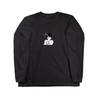 peequod×小骨トモ コラボ Long sleeve T-shirts