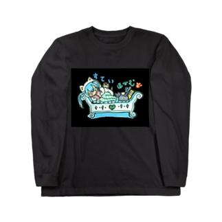 両面プリント✨mikuと愛猫💙STAY HOMEとおうち時間 Long Sleeve T-Shirt