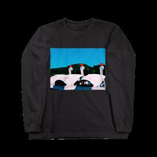 椅子のスワン Long sleeve T-shirts