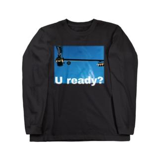 U ready? ヨコ Long sleeve T-shirts
