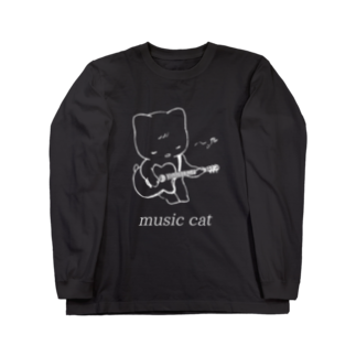 KAREZUのmusic cat Long sleeve T-shirts