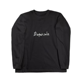 sugarsalt Official Goods Storeのsugarsalt White LOGO Long sleeve T-shirts
