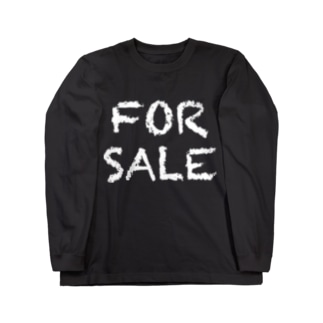 FOR SALE(販売する)白 Long sleeve T-shirts