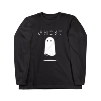 Ghost(white) Long sleeve T-shirts