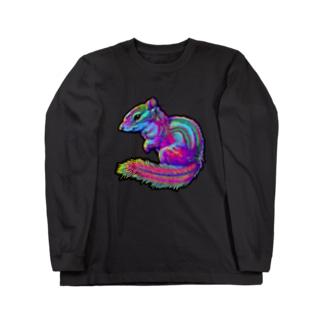 からふるあにまる『リス』 Long sleeve T-shirts