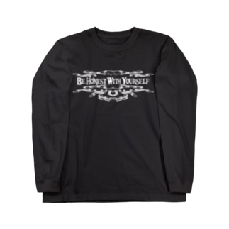 Be Honest With Yourself(WHITE) Long sleeve T-shirts
