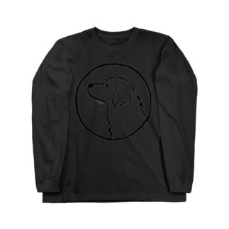 ゴールデン・レトリーバー〈白ふち・円〉 Long sleeve T-shirts