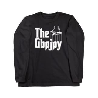 FX GBPJPY ポンド円 ポン円 FX トレーダー  ゴッドファーザー風パロディ為替 両替 白字白フォント Long sleeve T-shirts