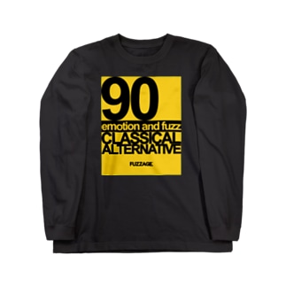 FUZZAGE No.8 Classical Alternative Rock (Black/Yellow) Long sleeve T-shirts