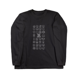 Heart nose DOGS(縦長白インク) Long sleeve T-shirts