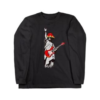 琉球ROCK(自由の女神) Long sleeve T-shirts