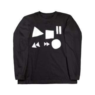 音楽のボタン Long sleeve T-shirts