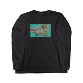 デジタルアブストラクト Long sleeve T-shirts