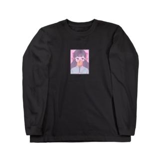 照れ屋 Long sleeve T-shirts