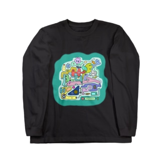 Osanpo-Nekoの朝ごはん Long sleeve T-shirts