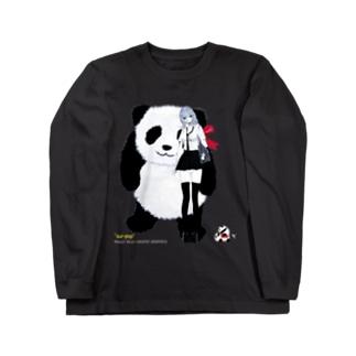 パンダが好きな女の子 ジャイアント Long sleeve T-shirts