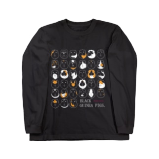 BLACK GUINEA PIGS.(モルモット) Long sleeve T-shirts