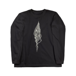 巻貝(白) Long sleeve T-shirts