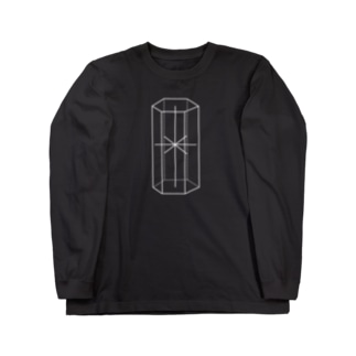 六方晶系【白】 Long sleeve T-shirts