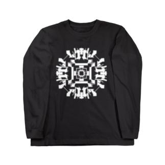 ロックオン(白ver) Long sleeve T-shirts