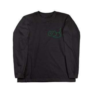 緑のしらかにゃ Long Sleeve T-Shirt