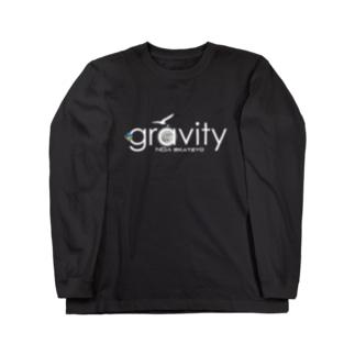 GravityWhitelogo ver2 Long sleeve T-shirts