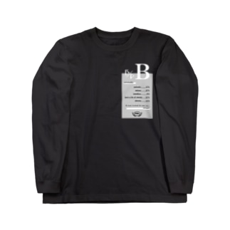 B型★モノクロ Long sleeve T-shirts