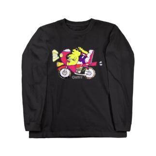 バイカーなふたり(ロゴ白バージョン) Long sleeve T-shirts