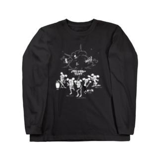 闇戦隊ノラレンジャーファイブ (濃い色用) Long sleeve T-shirts