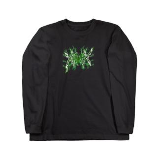 【X Thunder LŌGO X】 GREENVer. Long sleeve T-shirts