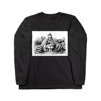 鏡の国のアリス 女王アリス Long sleeve T-shirts