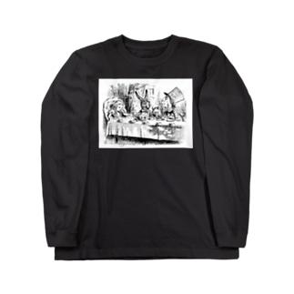 不思議の国のアリス A Mad Tea-Party Long sleeve T-shirts