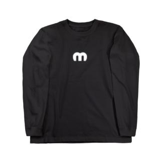 Mechuロゴ(白) Long sleeve T-shirts
