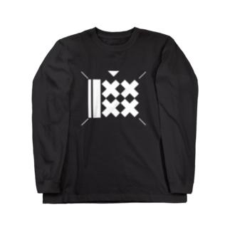 ヌードルフリークス_シロ Long sleeve T-shirts