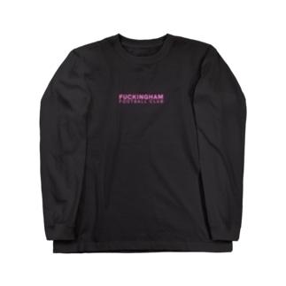 "FFC LETTER PRINT ""NEONPINK"" Long sleeve T-shirts"