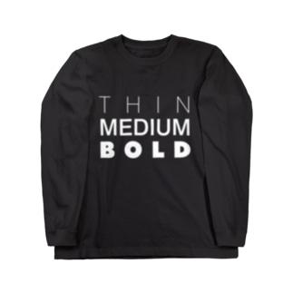 THINMEDIUMBOLD Long sleeve T-shirts