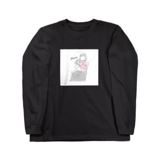 ぱぱとまなちゃん Long sleeve T-shirts