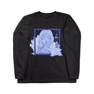 Magnolia(ブルー) Long sleeve T-shirts