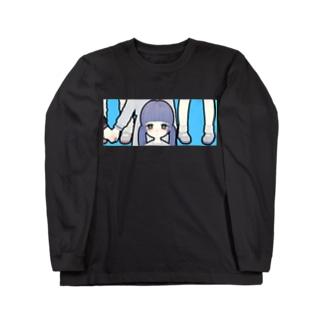 にこいち(水色おとめ) Long sleeve T-shirts