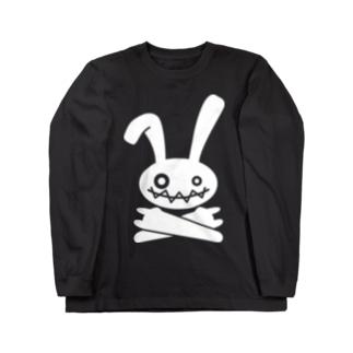 HEAVY METAL BUNNY(ホワイトプリント) Long sleeve T-shirts