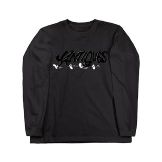 ウォークマンロゴパロディー Long sleeve T-shirts