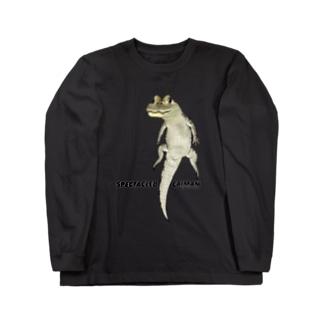 メガネカイマン Long sleeve T-shirts