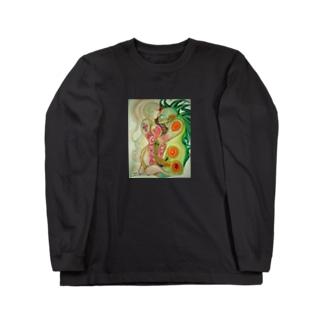 融合体ステッカー Long sleeve T-shirts