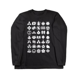 うさぎの家紋 Long sleeve T-shirts