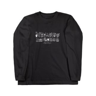 MOJIRANKUJIRAN 2段(黒っぽい色の服向け) Long sleeve T-shirts