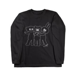 イケメンたぬフレ・線画 Long sleeve T-shirts