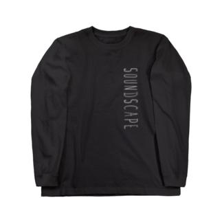 SoundScape ロンT プリントカラーブラック Long sleeve T-shirts