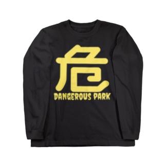 DANGEROUS PARKのhazard symbol Long sleeve T-shirts