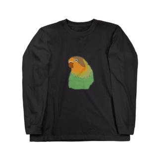 ボタンインコ Long sleeve T-shirts