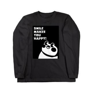 """""""すずめのおみせ"""" SUZURI店のSmile makes you happy Long sleeve T-shirts"""